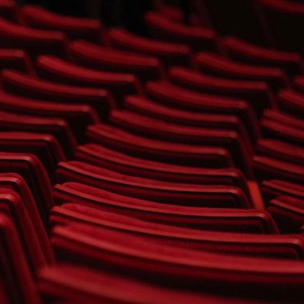 Theater red chairs, for The Cameri Theatre of Tel-Aviv webdesign